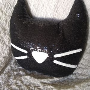 Other - Sequin cat pillow
